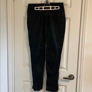 """Zadig & Voltaire black """"wax"""" moto style jeans"""